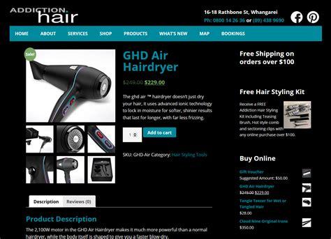 Wow Detox Addon by Hair Salon Website Shop For Addiction Hair Whangarei