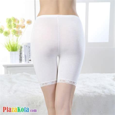 Legging Polos Putih jual cl001 celana legging pendek putih renda