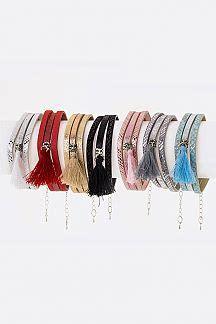 Tasseled Layered Bracelet lajewelryplaza shopping for wholesale jewelry