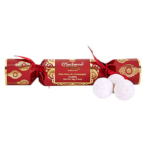 pink christmas crackers buy charbonnel et walker cracker pink marc de chagne truffles gifts international