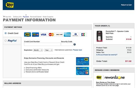 make best buy credit card payment checkout design payment method selection articles