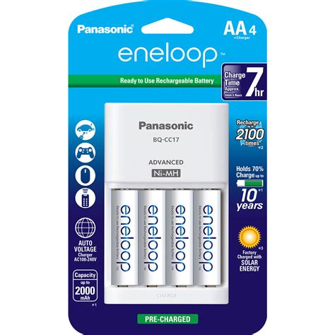 rechargeable a batteries with charger panasonic eneloop rechargeable aa ni mh batteries k kj17mca4ba