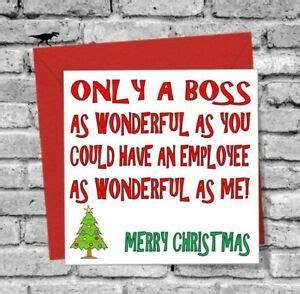 wonderful boss merry christmas  card love funny rude humour comedy work ebay