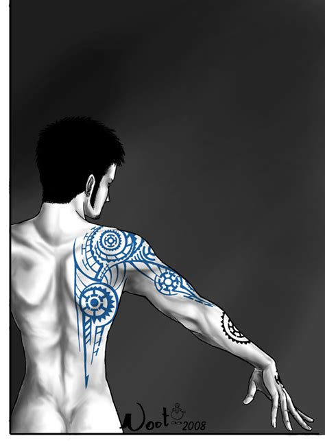 one piece tribal tattoo tribal tattoo law by noot on deviantart