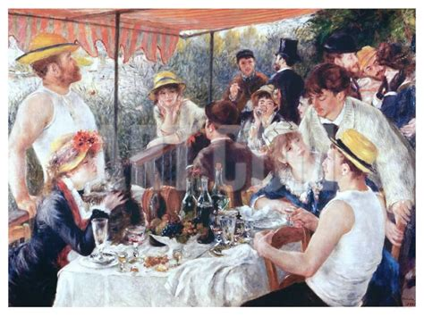 luncheon of the boating party the luncheon of the boating party c 1881 art print by