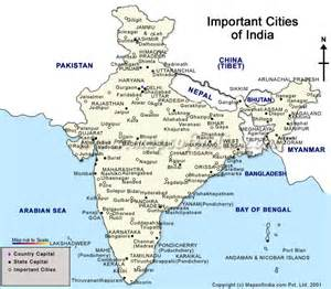 india city maps important cities of india