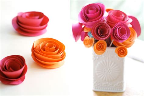 How To Make Paper Roses With Construction Paper - how to make paper flowers with construction paper