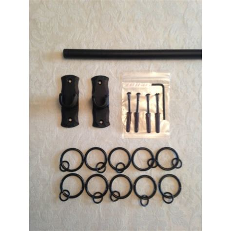 inset curtain rods a recessed curtain pole kit with a 16mm solid iron pole