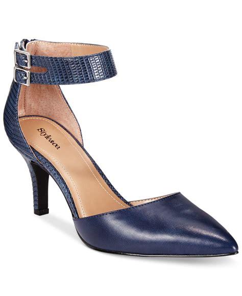 dress shoe macy s style co style co wandah two dress pumps only at macy s in blue navy lyst