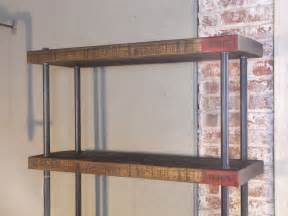 commercial wood shelving industrial wood steel pipe cast iron shelving storage