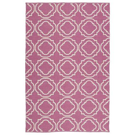 Pink Indoor Outdoor Rug Shop Kaleen Brisa Pink Indoor Outdoor Handcrafted Coastal Area Rug Common 8 X 10 Actual 8 Ft