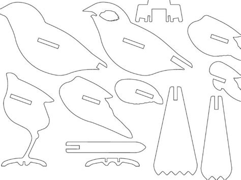 3d template bird ready for laser cutting or 3d printing by hexleyosx