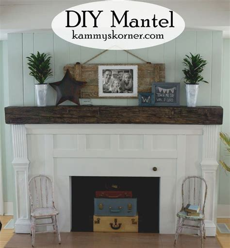 How To Decorate A Small House With No Money fireplace facelift beautiful mantel built with scraps