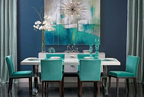 teal dining room colors of nature 22 turquoise interior design ideas