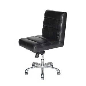 Armless Office Chairs Design Ideas Leather Desk Chair Furniture