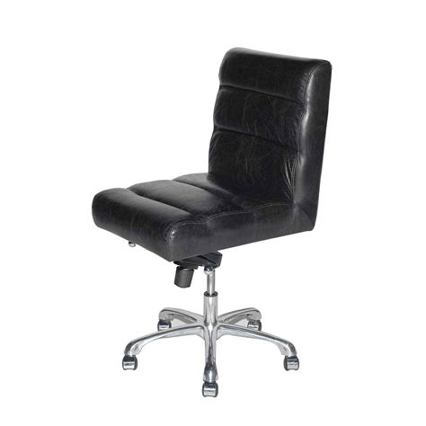 black leather desk chair leather desk chair furniture