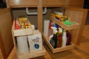 Under Kitchen Sink Storage Ideas by Diy Storage Ideas How To Build Kitchen Storage Under The Sink