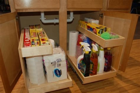 under the kitchen sink storage ideas diy storage ideas how to build kitchen storage under the sink