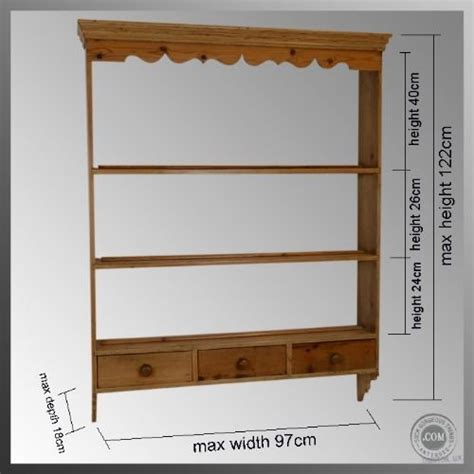 Pine Plate Racks For Kitchens by Antique Pine Hanging Display Shelf Plate Rack