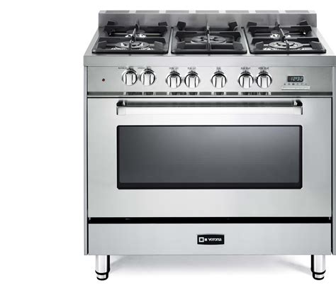 top rated kitchen appliances verona vefsge365nss 36 inch pro style dual fuel range with