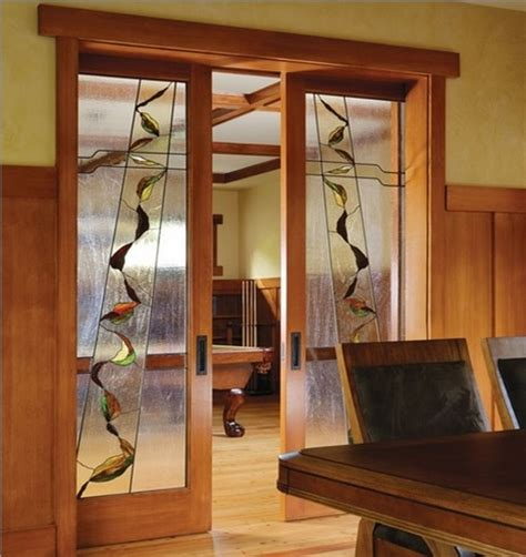 Interior Glass French Doors Design Ideas For Your Home Stained Glass Sliding Doors