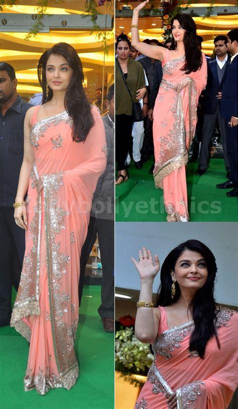 aishwarya rai in designer saree collection5 cutstyle bollywood style aishwarya rai georgette saree in reach color