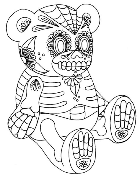Yucca Flats N M October 2012 Sugar Skull Coloring Pages
