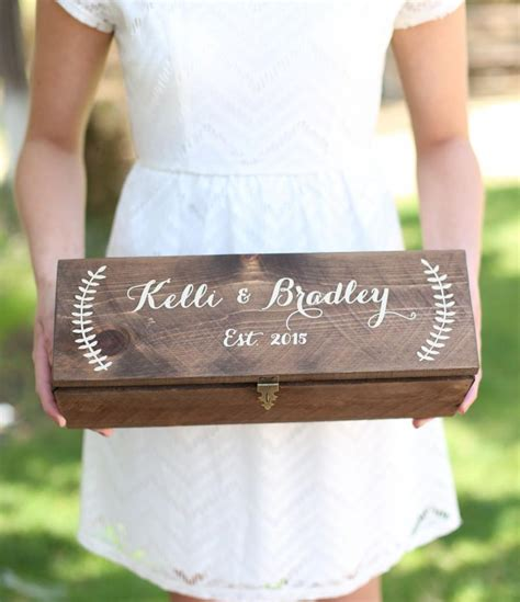 Wedding Wine Box Time Capsule personalized wine box custom keepsake time capsule wedding