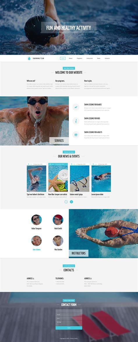 Swimming Training Website Template Swim Team Website Templates