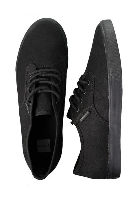 all black shoes for gravis slymz all black shoes impericon uk