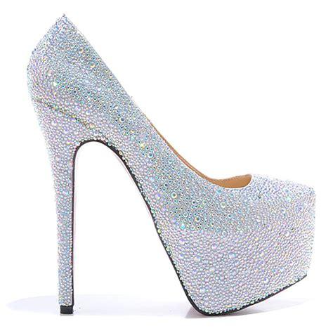 7 colors sparkly glitter diamonds platform high
