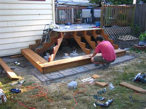 building a patio deck how to repair how to build frontyard deck step by step