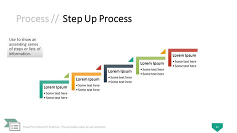 step by step process template powerpoint smartart graphics the complete collection