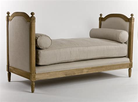 rent a couch for a day french linen and oak daybed sofa couch from st simons