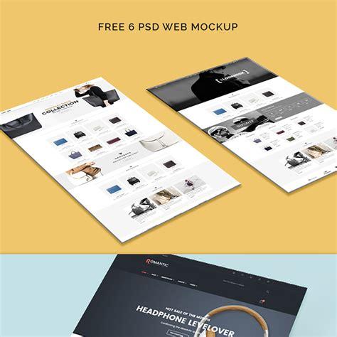 free web free web template mockup
