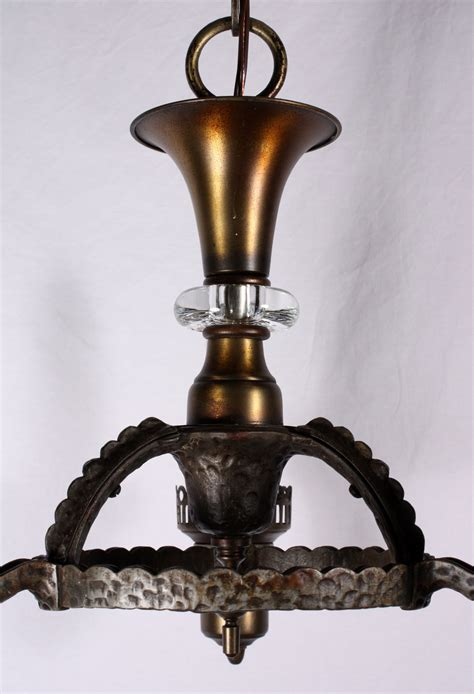 Cast Iron Lighting by Handsome Antique Three Light Tudor Chandelier Cast Iron