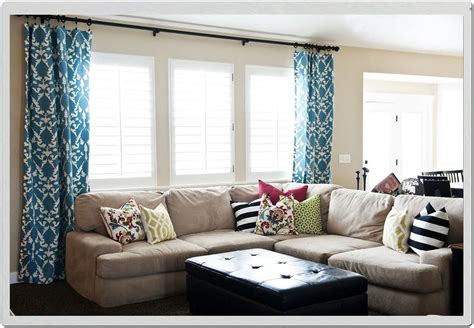 window treatment ideas for large living room window bay window dressings ideas curtain rod rods for windows