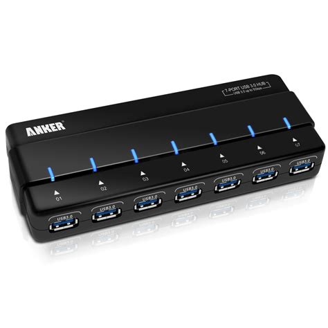 Usb Hub 8port anker 7 port hub with 36w power adapter usb 3 0