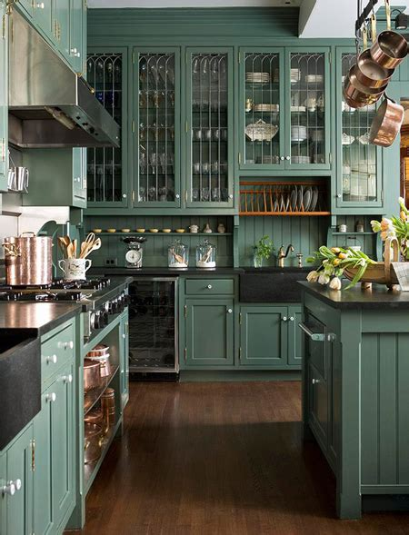green and kitchen green kitchens house home
