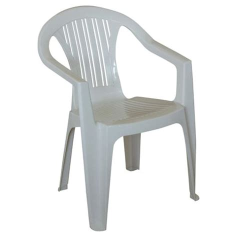 White Plastic Stackable Chairs by Buy Plastic Stacking Garden Chair White From Our Plastic