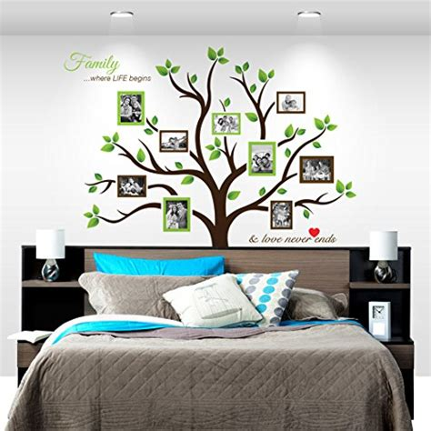 timber artbox large family tree photo frames wall decal large family tree wall decal roselawnlutheran