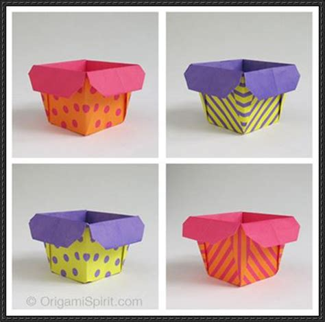 Make Paper Box - how to make a traditional origami box