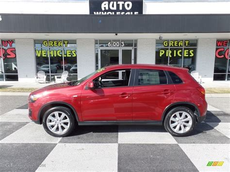 mitsubishi outlander sport 2014 red 2015 rally red mitsubishi outlander sport es 118575547
