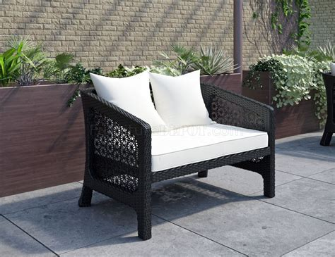 white outdoor loveseat nook outdoor patio loveseat in espresso white by modway