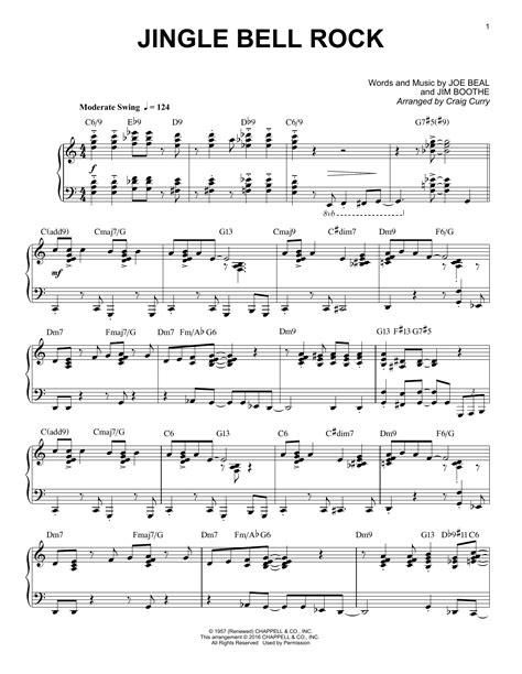 jingle bell swing lyrics jingle bell rock craig curry sheet music deluxe