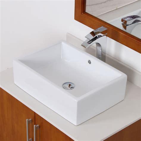 square sink bathroom elite white ceramic square bathroom sink contemporary