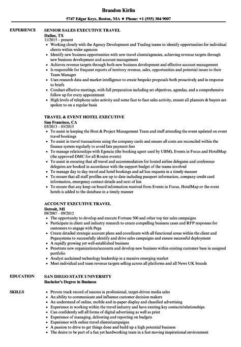 Travel Executive Sle Resume by Travel Executive Resume Sles Velvet