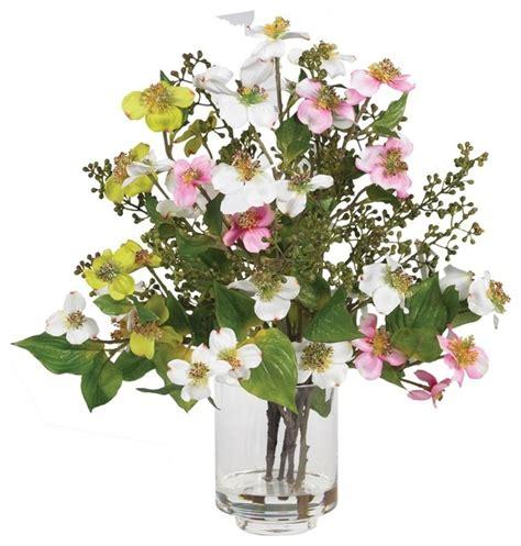 artificial flower arrangements for bathroom dogwood silk flower arrangement artificial flower