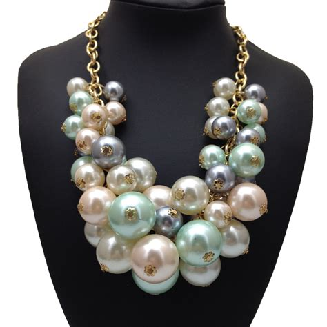 new design fashion pendant necklace multilayer bead chain