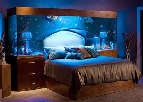 Fish Tank Headboards For Sale by Sleep With The Fishes In Custom Made Aquarium Bed By